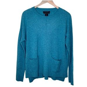 Tahari Luxe 100% cashmere blue sweater pullover M